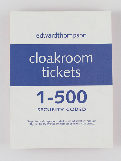 Picture of Cloakroom/Raffle Tickets 1 – 500