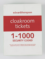 Picture of Cloakroom/Raffle Tickets 1 – 1000